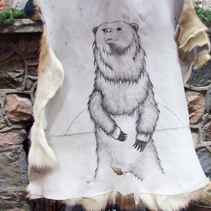 Native Art Deer Hide