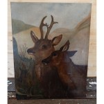 two young deer painting